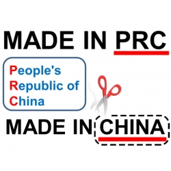 COUNTRY OF ORIGIN - PRC
